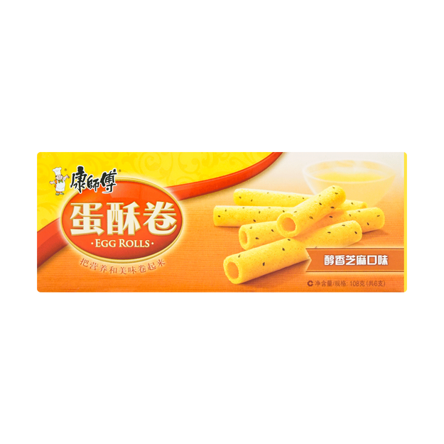 商品详情 - 康师傅 蛋酥卷 醇香芝麻口味 108g - image  0