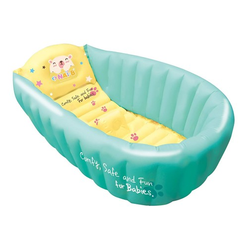 NAI-B Inflatable Baby Bathtub with Air Pump and Water Thermometer ...