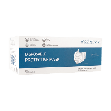 Medi-More 3 Layer Disposable Medical Face MaskClass 2 Face Mask 50pcs