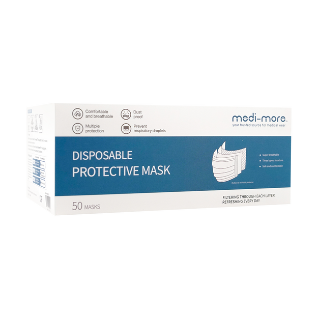 Product Detail - Medi-More 3 Layer Disposable Medical Face MaskClass 2 Face Mask 50pcs - image 0