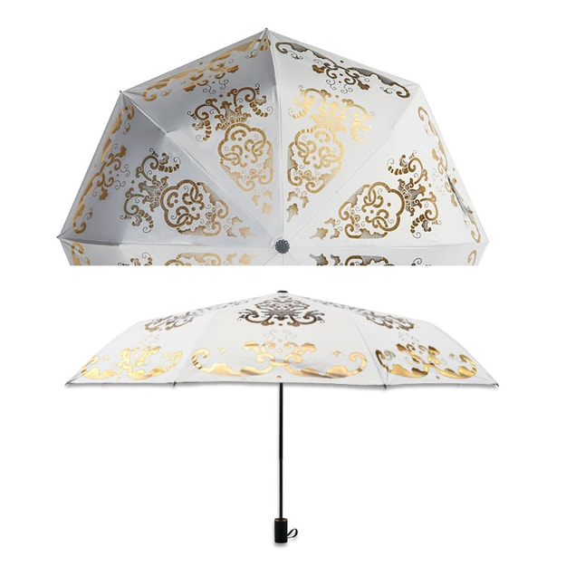Product Detail - THE PALACE MUSEUM Umbrella Ultraviolet with Shading Black Rubber # White - image 0