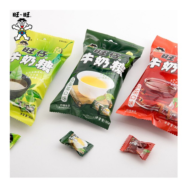 Product Detail - [China Direct Mail]  Want Want Wangzi Milk Candy Black Tea Flavored Candy Green Tea Flavored Oolong Tea Flavor 42g - image 0