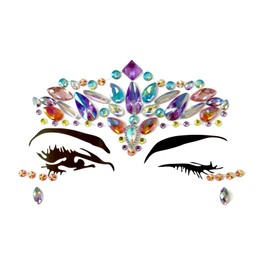 JIAOJIAO EDM Rave Music Festival Makeup Diamond Face Jewels Eye Stickers