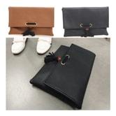 MAGZERO [27th Pre-Order] Origin Korea Women Clutch Bag With Wooden Ball Black