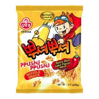 韩国OTTOGI不倒翁 PPUSHU PPUSHU 干脆面 辣炒年糕味 90g