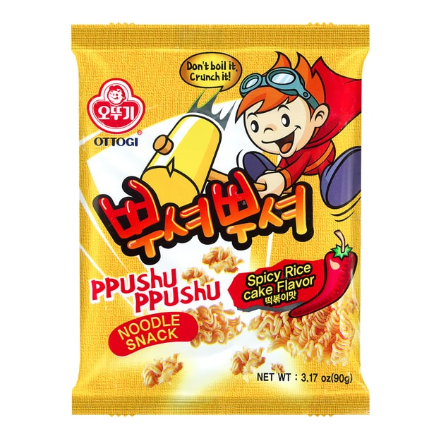 Product Detail - OTTOGI Ppushu Ppushu Noodle Snack Spicy Rice Cake Flavor 90g - image 0