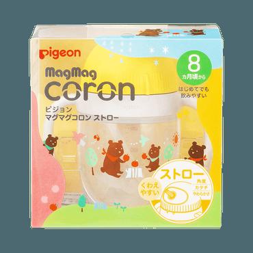 PIGEON 贝亲||Magmag Coron 实用便携可爱吸管奶瓶||1个