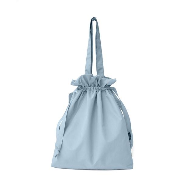 商品详情 - TIMESWOOD 懒人化妆包抽绳小号化妆袋便携大容量单肩手提袋 浅蓝大号 一件 - image  0