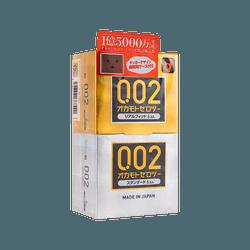 ZERO TWO 0.02 002 Real Fit Stanrad Assort Pack Condom, 12pcs