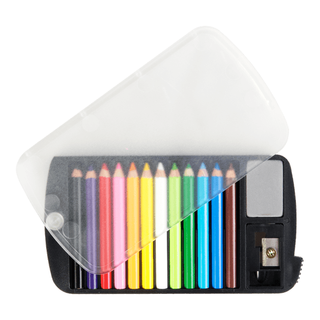 Product Detail - Mini Color Pencil Set with Sharpener & Eraser 12 Colors - image 0