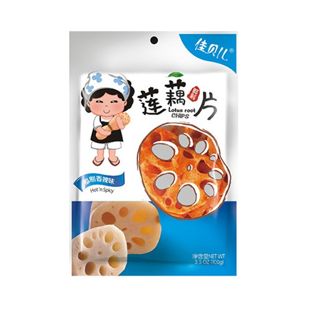 YUMEI JIABEIER Lotus Root Chips Hot Spicy 100g