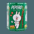 韩国LOTTE乐天 PEPERO 杏仁巧克力脆棒 圆筒装 128g 包装随机发
