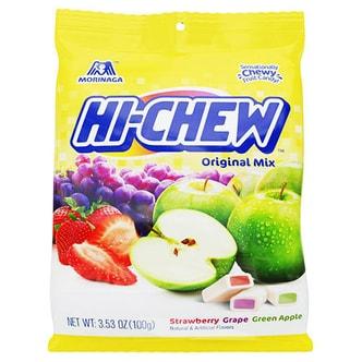 日本MORINAGA森永 HI-CHEW 双果汁软糖 3种口味 综合袋 100g