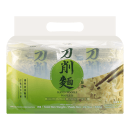 WUMU Bag Sliced Noodle Spinach 650g