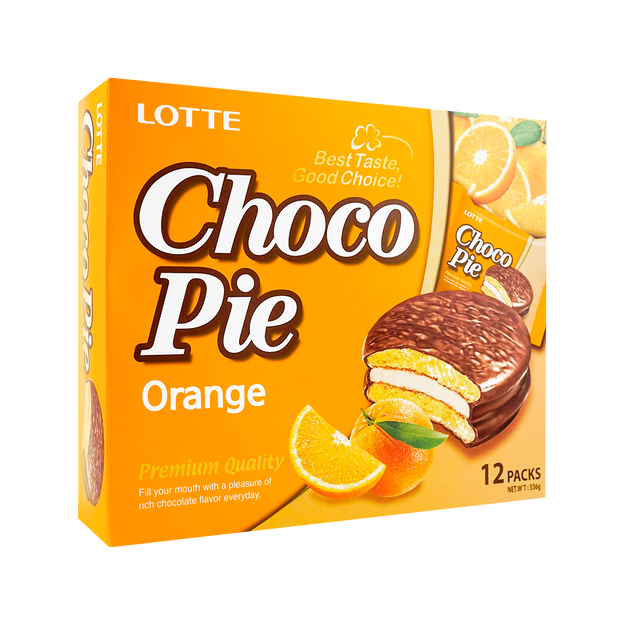 Product Detail - Lotte Chocolate Pie Orange Flavor 12pc - image 0