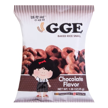 WEILIH GGE Baked Rice Snack Chocolate Flavor 45g
