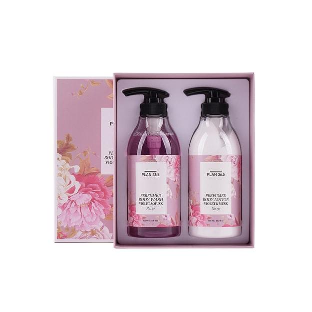 Product Detail - PLAN 36.5 perfumed body care set violet & musk 500ml/16.9 fl.oz - image 0