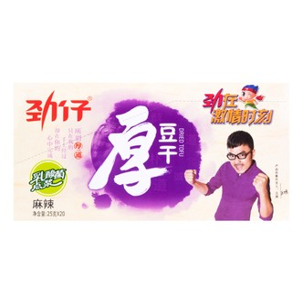 华文食品 劲仔厚豆干 麻辣味 超值盒装 25g×20包入 湖南特产 汪涵代言