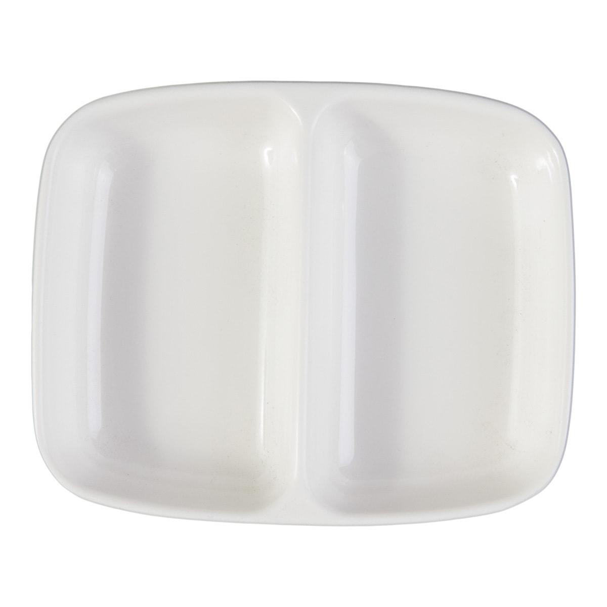 Yamibuy.com:Customer reviews:Melamine Twin Sauce Dish White Microwave Safe