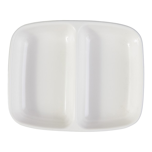 Product Detail - Melamine Twin Sauce Dish White Microwave Safe - image 0