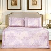 QBEDDING Purple Daisy Bing Si Mattress Topper Queen Size 3pcs
