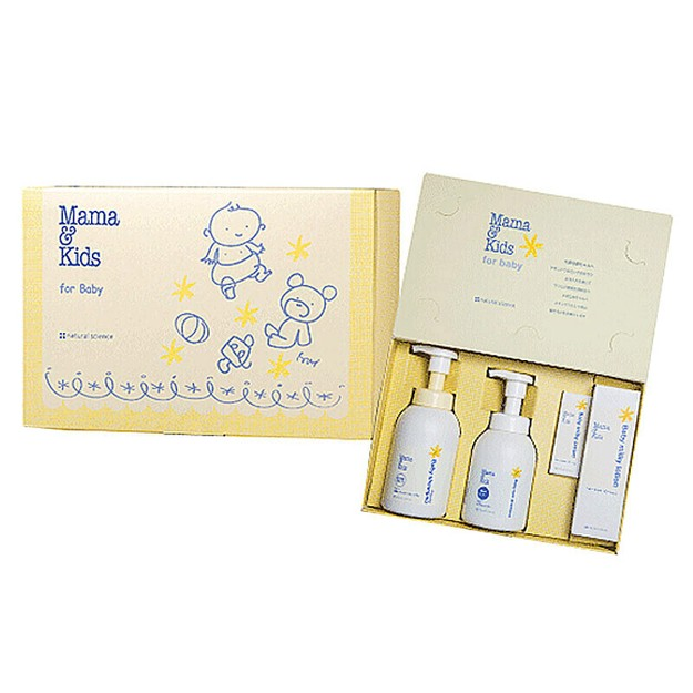 Product Detail - MAMA & KIDS baby gift box (hair shampoo 370ml+body and face shampoo 460ml+lotion 150ml+cream 23ml) - image 0