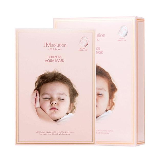 商品详情 - 韩国 JM SOLUTION 粉色系列 9种透明质酸 水库面膜 孕妇可用 10片入 - image  0