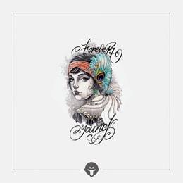 @BECOME Original Tattoo Stickers  Retro beauty One Piece