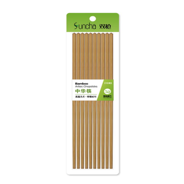 Product Detail - SUNCHA Bamboo Chinese Chopsticks Paint-free 26cm 10pairs Carbonized Mao bamboo - image 0
