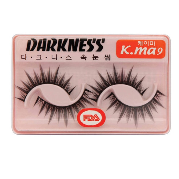 Product Detail - DARKNESS False Eyelashes  #Kma9 2Pair In 1Box - image 0