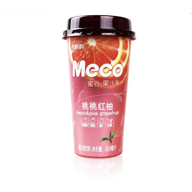 商品详情 - 香飘飘 MECO 蜜谷果汁茶 桃桃红柚味 400ml - image  0