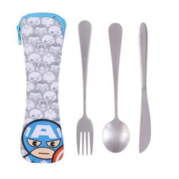 Miniso MARVEL Cutlery Utensil Set 3pcs #Captain America