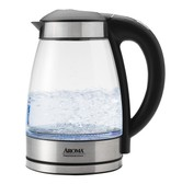 AROMA 1.7L German Glass Digital Electric Kettle (5 Year Manufacturer Warranty)