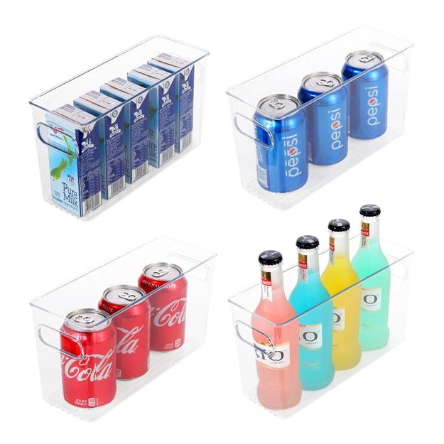 """商品详情 - ROSELIFE 瓶装饮料托架可放置4瓶瓶装饮料尺寸10.3\""""x3.9\""""x6.0\""""适用冰箱厨房等场景 - image  0"""