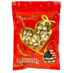 YONG WELL A Grade American Ginseng Slice Medium Size (1 Lb. Gift Bag)