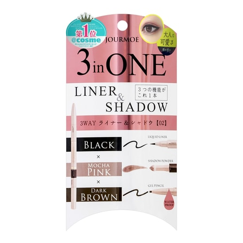 JOURMOE 3 in One Liner & Shadow #02 Girly 1pc