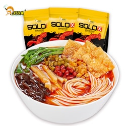 HAOHUANLUO Liuzhou Crayfish flavor specialty snail lion powder hot and sour powder instant rice noodles 320g