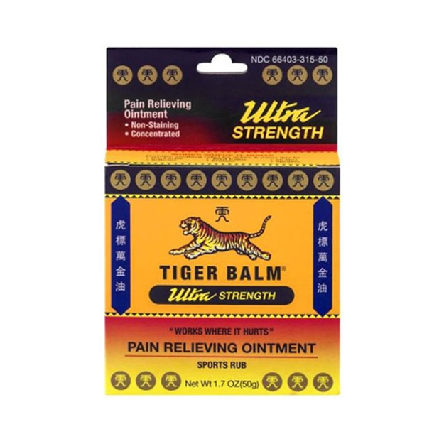 Tiger Balm Ultra Strength Pain Relieving Ointment 50g