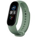 [中国直邮]小米 MI 小米手环5 标准NFC通用多彩腕带 智能运动手环替换带 亲肤材质透气吸汗 官方正品  清新绿 1个装
