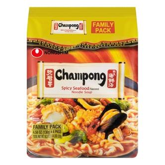 韩国NONGSHIM农心 韩式辣海鲜汤面 4包入 520g