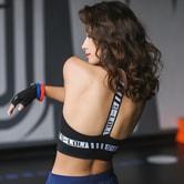 SYLPHLIKE LOLI Sports Sexy Back Bras For Yoga Fitness Train/Black#/L