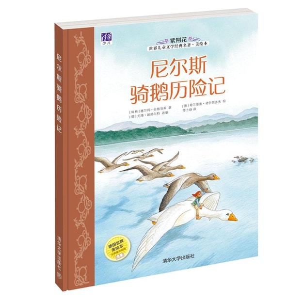 商品详情 - 紫荆花世界儿童文学经典名著·美绘本:尼尔斯骑鹅历险记 - image  0