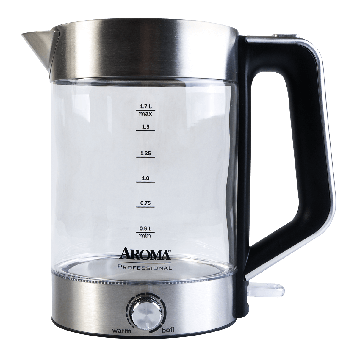 Yamibuy.com:Customer reviews:AROMA 1.7L Glass Electric Kettle with Temperature Dial (2 Year Manufacturer Warranty)