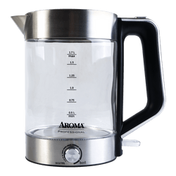 AROMA 1.7L Glass Electric Kettle with Temperature Dial (2 Year Manufacturer Warranty)