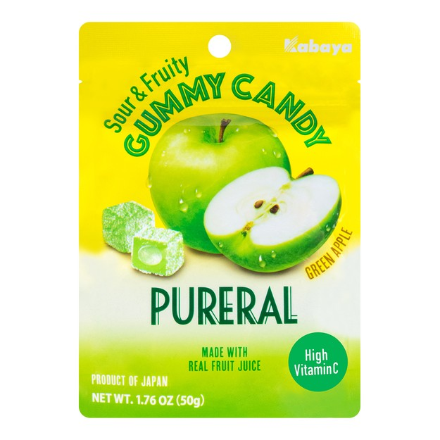 Product Detail - KABAYA Gummy Green Apple  Pureral 50g - image 0