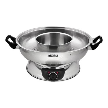 AROMA 4-Qt Electric Shabu Hot Pot ASP-600 (2 Year Mfgr Warranty)