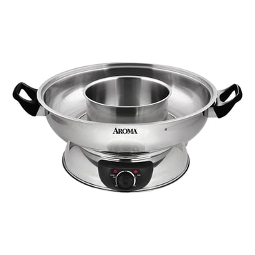 【Change to 91821 Zip Code】AROMA 4-Qt Electric Shabu Hot Pot ASP-600 (2 Year Mfgr Warranty)