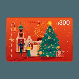 亚米电子礼卡 价值$300