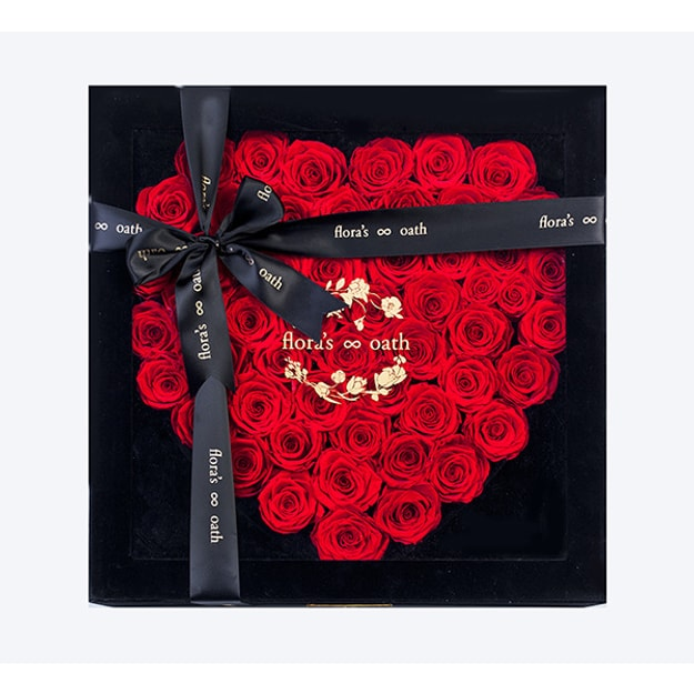 Product Detail - Flora\'s OathEternal roses A.D. Infatuation heart-shaped rose in black box - image 0