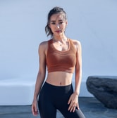 SYLPHLIKE LOLI Sports  Mesh Underwear For Yoga Fitness Train/Caramel#/S